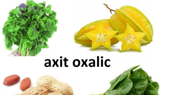 Những loại thực phẩm chứa nhiều acid oxalic