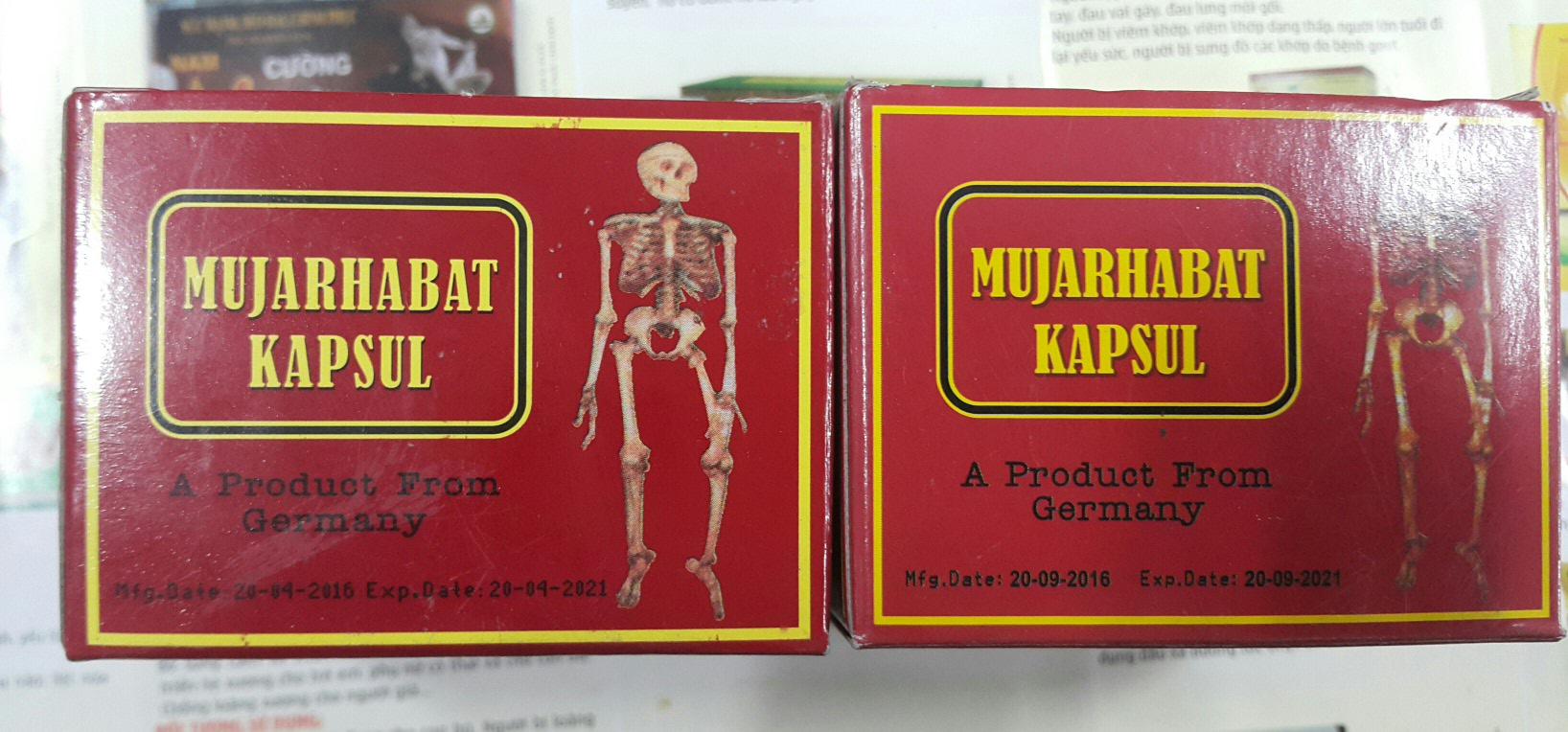 Thuốc Mujarhabat Kapsul của Malaysia