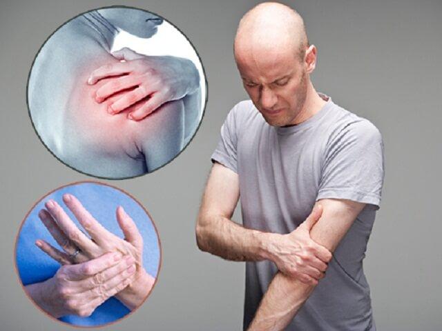Triệu chứng thoái hóa khớp vai lan xuống cánh tay
